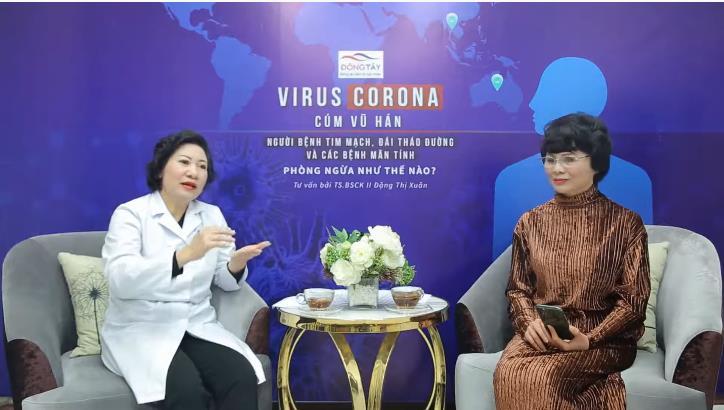 BS Đặng Thi Xuân trong buổi tư vấn cách phòng virus corona cho người bệnh tim mạc
