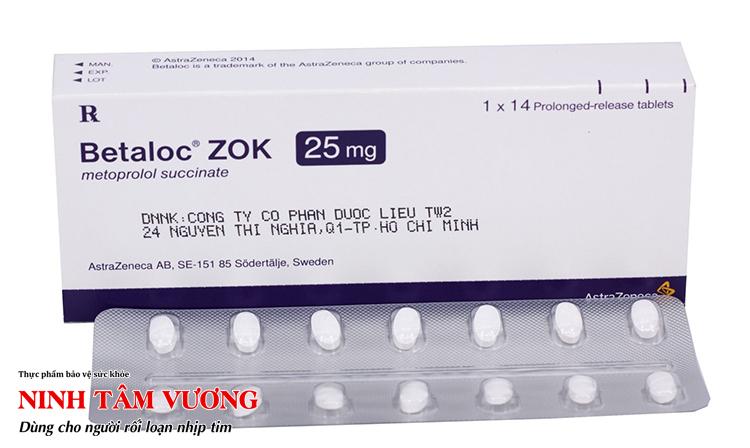 Betaloc Zok - một loại thuốc chứa Metoprolol thường được sử dụng