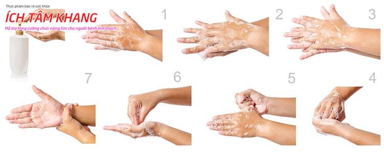 8 Bước rửa tay chuẩn để bảo đảm sạch vi khuẩn, virus