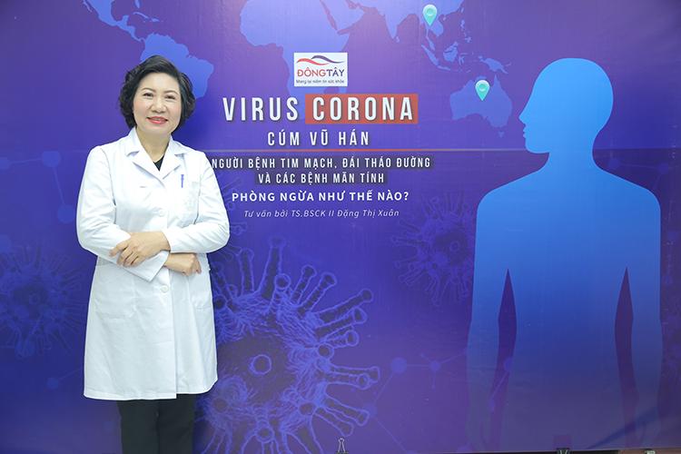BS Đặng Thị Xuân tư vấn về cách phòng ngừa virus corona cho những người mắc bệnh mãn tính, trong đó có bệnh tim mạch
