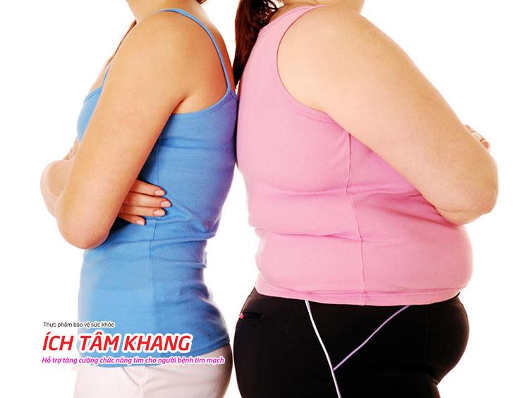 Thừa cân, huyết áp cao, mỡ máu là những yếu tố dễ gây xơ vữa mạch vành.