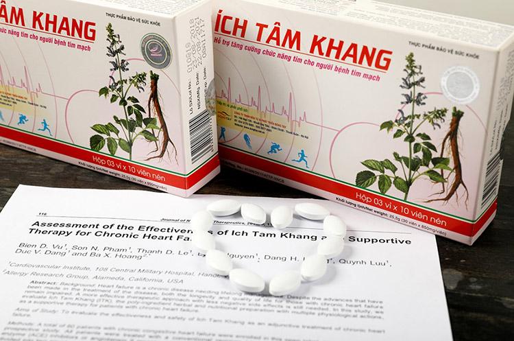 TPBVSK Ích Tâm Khang được kiểm chứng lâm sàng và kết quả nghiên cứu được đăng tải trên Tạp chí Khoa học Toàn cầu của Canada năm 2014