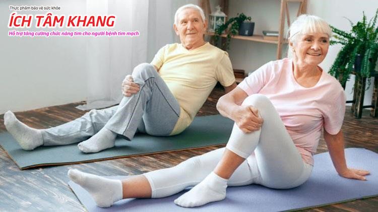 Vận động thường xuyên và thư giãn tinh thần có lợi cho người bệnh tim