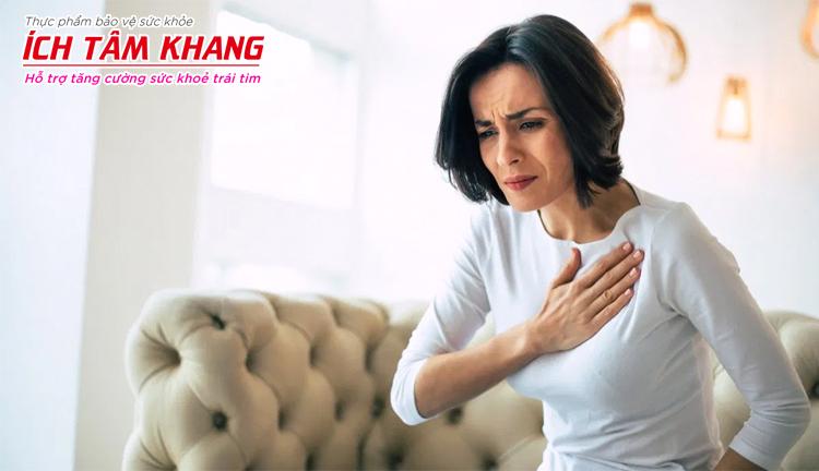 Khó thở, hụt hơi gặp phải ở hầu hết người bệnh suy tim