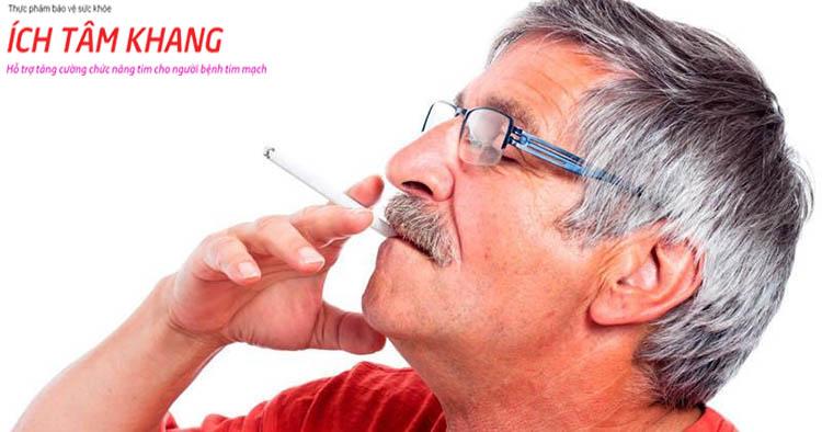Nicotin trong thuốc lá gây tàn phá mạch máu và làm suy tim sung huyết nặng hơn