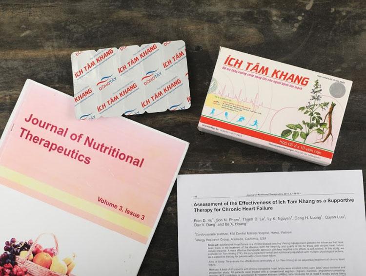 Sản phẩm được kiểm chứng lâm sàng và được Tạp chí Khoa học Toàn cầu đăng tải