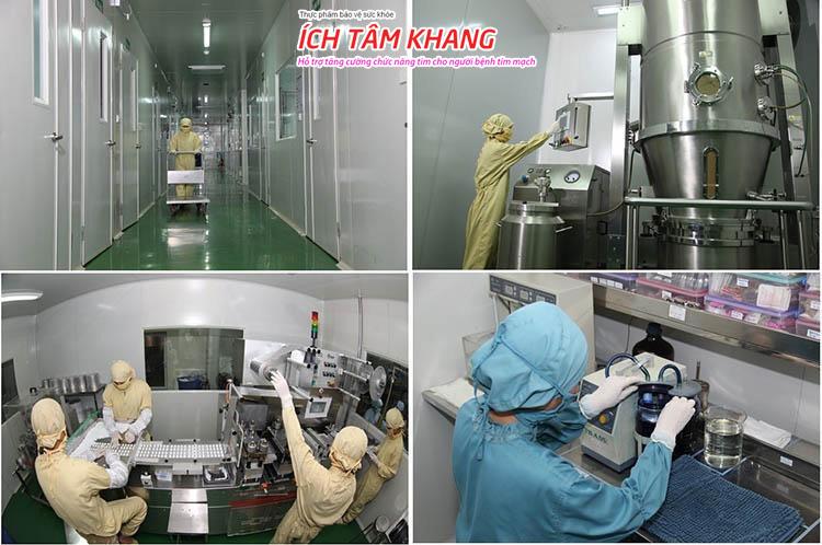 Viên nén TPBVSK Ích Tâm Khang với quy trình sản xuất hiện đại, được kiểm soát chất lượng chặt chẽ