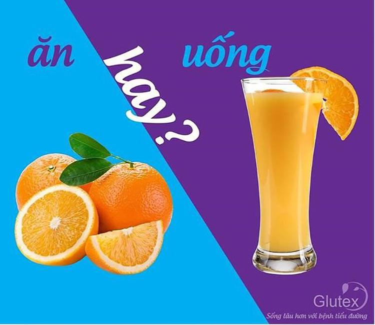 Ăn trái cây nguyên quả không làm tăng nhanh đường huyết so với uống nước ép