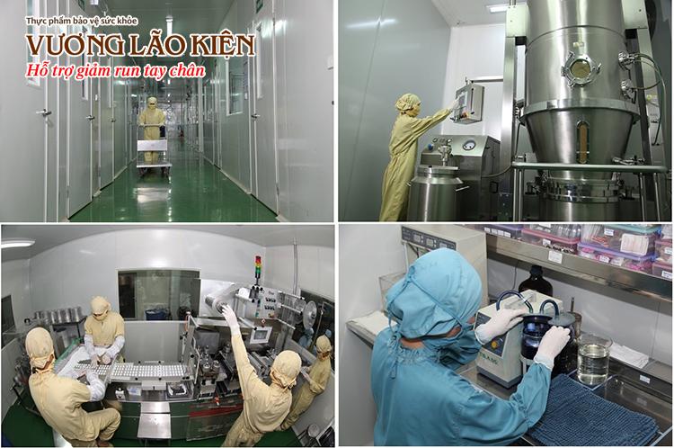 Quy trình sản xuất TPCN Vương Lão Kiện đều được thực hiện bằng thiết bị tự động hóa
