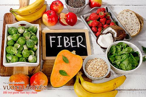 Rau, củ, quả tươi, ngũ cốc nguyên hạt là nguồn chất xơ phong phú