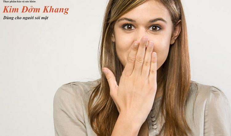 Ợ hơi là tác dụng phụ thường gặp khi dùng thuốc tan sỏi từ tinh dầu