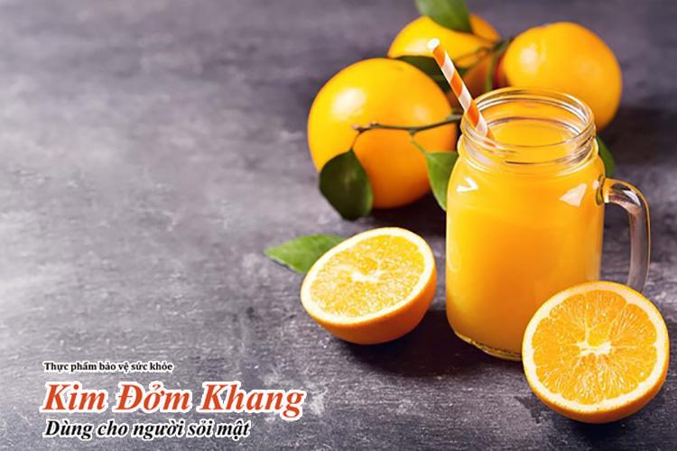 Trái cây chứa nhiều vitamin C rất tốt cho người bệnh sỏi mật