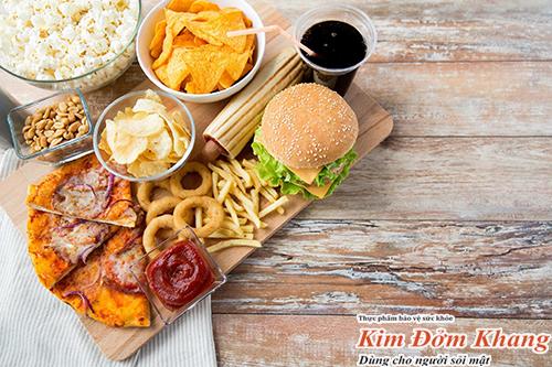 Đồ chiên rán, thức ăn nhanh làm tăng nguy cơ tạo sỏi cholesterol