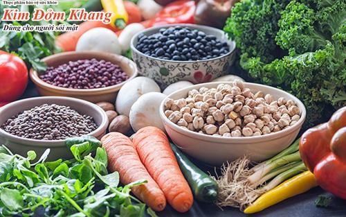 Các loại rau củ quả người bệnh sỏi mật nên ăn