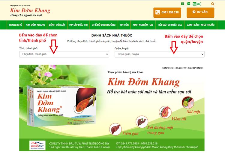Cách tìm nhà thuốc bán Kim Đởm Khang nhanh nhất