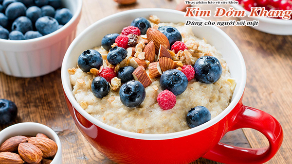 Món ăn chứa nhiều vitamin và chất xơ tốt cho người bị polyp túi mật