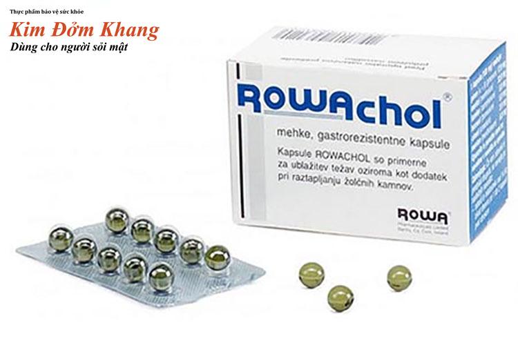 Rowachol là thuốc trị sỏi túi mật từ thảo dược