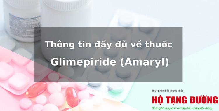 Nhiều người bệnh tiểu đường được điều trị bằng thuốc Glimepiride (Amaryl)
