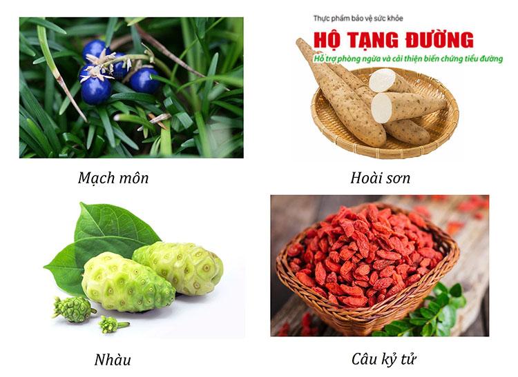 Mạch Môn, Hoài Sơn, Câu kỷ tử, Nhàu giúp phòng ngừa biến chứng tiểu đường.