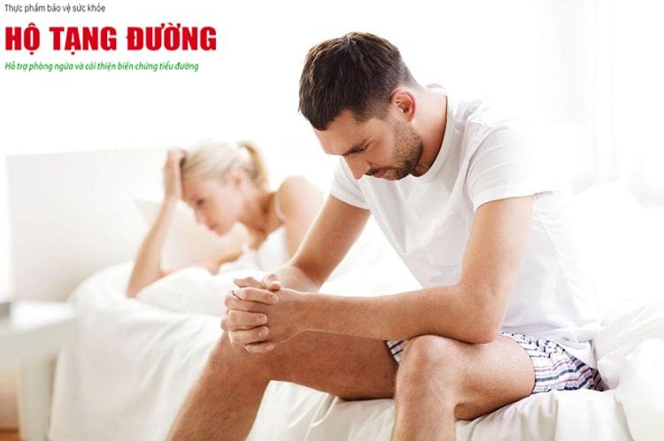 Biến chứng tiểu đường có thể ảnh hưởng đến khả năng sinh lý của đàn ông.