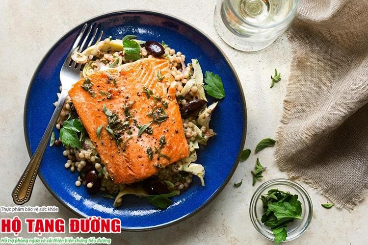 Món ăn từ cá và các loại hạt tốt cho người tiểu đường type 2