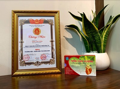 Ninh Tâm Vương vinh dự nhận giải thưởng TOP 10 THƯƠNG HIỆU - NHÃN HIỆU TIN DÙNG 2019