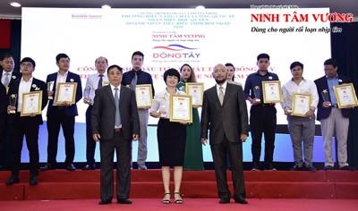 """TPCN Ninh Tâm Vương nhận giải thưởng """"Thương hiệu vàng - Chất lượng Quốc tế 2020"""""""