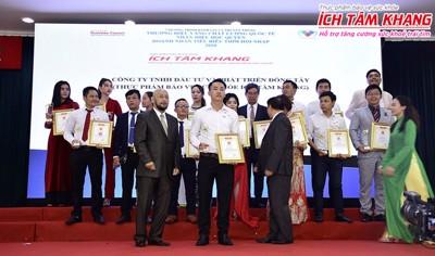"""TPCN Ích Tâm Khang xuất sắc nhận giải thưởng """"Thương hiệu vàng - Chất lượng quốc tế 2020"""""""